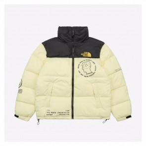 The North Face 20Fw Brain Dead Puffer Jacket Light Yellow