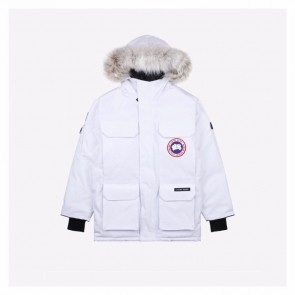Canada Goose Expedition White Parka