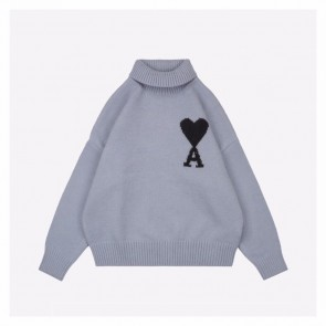 Ami 20Fw Kintted Sweater Grey